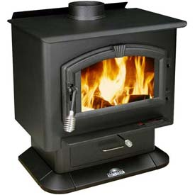 US Stove Plate Steel Wood Stove Heater, 2000, 89000 BTU by