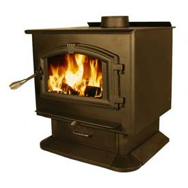 US Stove Country Hearth Epa Plate Steel Wood Stove Heater, 2500, 112000 BTU by