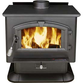 US Stove Plate Steel Wood Stove Heater, 3000, 123000 BTU by Wood Stoves