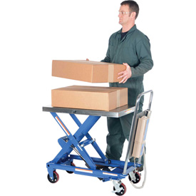 "Vestil Linear Actuated Elevating Cart CART-500-LA - 15"" to 33"" Lift - 500 Lb. Cap."