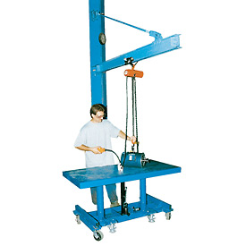 Vestil High-Ceiling Tie Rod Wall Mount Jib Crane JIB-HC-3 300 Lb. Capacity