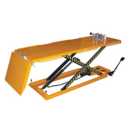 Vestil Hydraulic Motorcycle Lift Table, Tire Cradle & Ramp MOTO-LIFT-1100 - 1100 Lb. Capacity