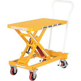 "Vestil Self-Elevating Lift Cart SCSC-400-2032 - 20""W x 32""L Platform"