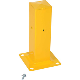 "Structural Guard Rail Mounting Post, Yellow Powder Coat - 18""H"