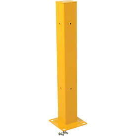 "Structural Guard Rail Mounting Post, Yellow Powder Coat - 42""H"