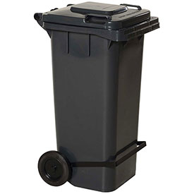 Gray Trash Can - 32 Gal W/Lid Lifter - TH-32-GY-FL