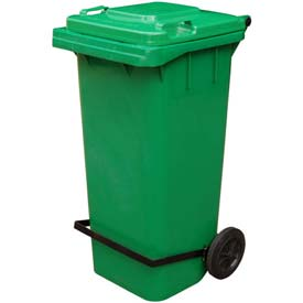 Green Trash Can - 95 Gal W/Lid Lifter - TH-95-GRN-FL