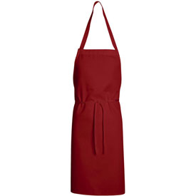 """Chef Designs Standard Bib Apron, Red, Polyester/Cotton, 30"""" x 33"""" by"""