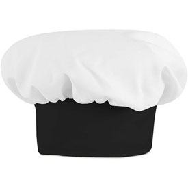 Chef Designs Chef Hat, White W/Black Band, Polyester/Cotton, L by