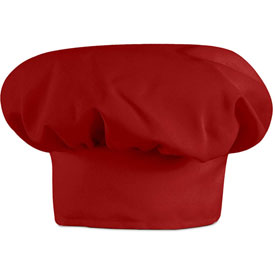Chef Designs Chef Hat, Red, Polyester/Cotton, L by