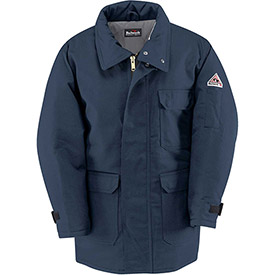EXCEL FR ComforTouch Flame Resistant Deluxe Parka JLP8, Navy, Size S Regular by