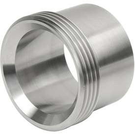 "VNE 3A Series 1-1/2"" Medium Ferrule, 304/316L Stainless, Threaded Bevel Ferrule Connection"