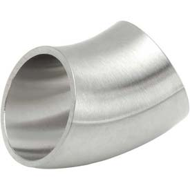 VNE E2WK3.0 3A Series 3 45 Degree Elbow, 304/T316L Stainless, Weld