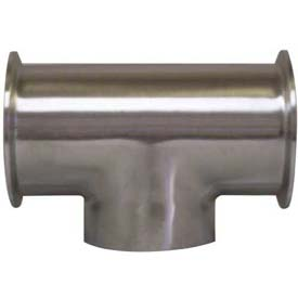 VNE E7CCW4.0 3A Series 4 Tee, 304/T316L Stainless, Clamp x Clamp x Weld