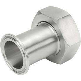 VNE EG17PR4.0 3A Series 4 Adapter, 304/T316L Stainless, Clamp x Bevel Ferrule W/Nut