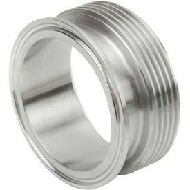 VNE EG17TR2.0 3A Series 2 Adapter, 304/T316L Stainless, Clamp x Thread Bevel