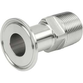 VNE EG21-6L1.0 x .75 3A Series 1 x 3/4 Reducing Adapter, 304/T316L Stainless, Clamp x MNPT