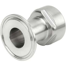 VNE EG22-6L1.5 3A Series 1-1/2 Adapter, 304/T316L Stainless, Clamp x FNPT