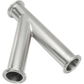 VNE EG28A-6L1.0 3A Series 1 45 Degree Lateral Wye, 304/T316L Stainless, Clamp