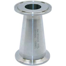 VNE EG31CC6L2.5 x 2.0 3A Series 2-1/2 x 2 Concentric Reducer, 304/T316L Stainless, Clamp