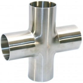 MaxPure TE9WWWW6L1.5-PD  BPE Series 1-1/2 Cross, T316L Stainless, Weld Connection
