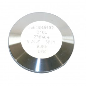 MaxPure TEG16A6L1.5-PM  BPE Series 1-1/2 Solid End Cap, T316L Stainless, Clamp Connection