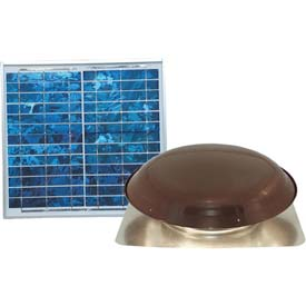 Ventamatic® VX1000SOLBRNUPS Solar Power Attic Ventilator, Brown