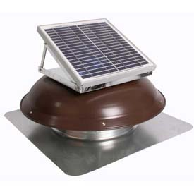 Ventamatic® VX1000SOLDOMBRN Solar Roof Attic Vent With Dome-Mounted Panel, Brown