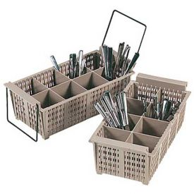 "Click here to buy Vollrath, Flatware Basket W/O Handles, 1371, 8-Compartment, 5-7/8"" High Package Count 6."