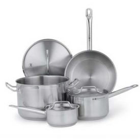 Vollrath 3820 Optio Deluxe Cookware Set, 2 Sauce Pans, 1 Fry Pan, With Covers by