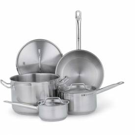 Vollrath 3822 Optio Deluxe Cookware Set, 7-Pieces, Stainless Steel, Induction Ready by