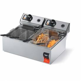 Vollrath, Cayenne Standard Duty Electric Fryers, 40708, Dual Countertop Fryer, 2 X 10 Lb. by