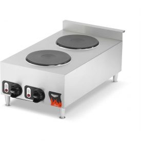 "Vollrath, Electric Hot Plate, 40739, 9"" Solid Burners, 24"" X 24"" X 26"" by"