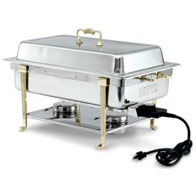 Brass Trim Electric Chafer - Long Side