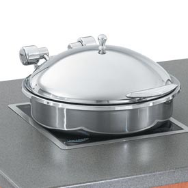 Induction Chafer - Stainless Steel Trim - Porcelain Food Pan