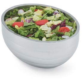 Stainless Steel Double Wall Oval Beehive Bowl 7.1 Qt - Pkg Qty 2
