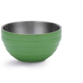Click here to buy Vollrath, Double-Wall Insulated Serving Bowl, 4656935, 10.1 Quart, Green Apple Package Count 2.
