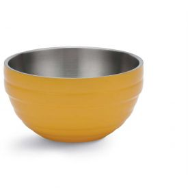 Click here to buy Vollrath, Double-Wall Insulated Serving Bowl, 4658745, 0.75 Quart, Nugget Yellow Package Count 6.