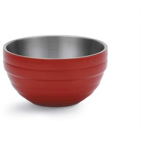 Click here to buy Vollrath, Double-Wall Insulated Serving Bowl, 4658755, 0.75 Quart, Fire Engine Red Package Count 6.