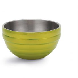 Click here to buy Vollrath, Double-Wall Insulated Serving Bowl, 4659130, 3.4 Quart, Lemon Lime Package Count 6.