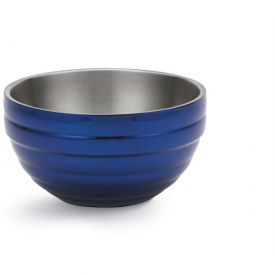 Vollrath, Double-Wall Insulated Serving Bowl, 4659225, 6.9 Quart, Cobalt Blue Package Count 3 by