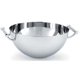 Stainless Steel Round Bowl with Handles 2 Qt