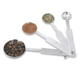 Click here to buy 4 Piece Measuring Spoon Set Package Count 12.