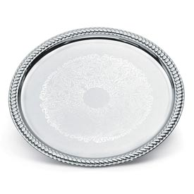 "Vollrath® Odyssey™ Serving Tray - Round Chrome Plated Tray 14"" - Pkg Qty 6"