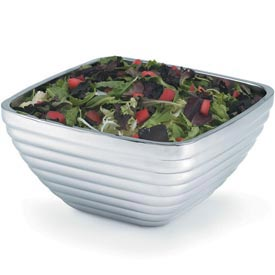Stainless Steel Square Bowl - Double Wall Beehive 8.17 Qt - Pkg Qty 3