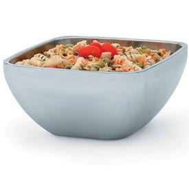 Stainless Steel Square Bowl - Double Wall Plain 1.81 Qt - Pkg Qty 12