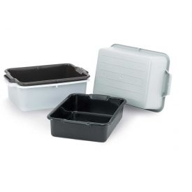 "Vollrath 52612 Bus Box, Signature, 20"" x 15"" x 5"", Gray Package Count 12 by"