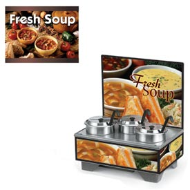 Cayenne® - 4 Qt. Full Size Merchandisers with Menu Board - Country Kitchen