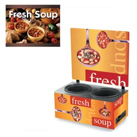 Cayenne® - Twin Well 7 Qt. Soup Merchandisers - Menu Country Kitchen