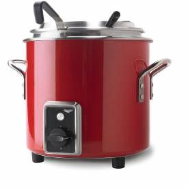 Vollrath, Retro Stock Pot Kettle Rethermalizer, 7217255, 11 Quart, Fire Engine Red Finish
